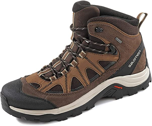 Salomon Authentic LTR GTX Hiking Shoes Herren black coffeechocolate brownvintage