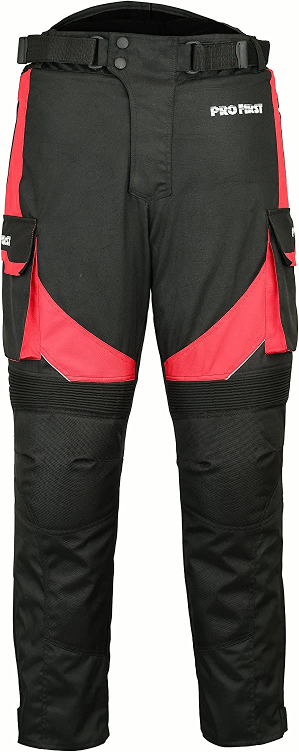 Motorbike Trouser Motorcycle Waterproof Removable Cordura Textile Big Pocket Trousers Long Pants Armor Armoured For Mens Women Boys Adult-Size 5Xtra Large