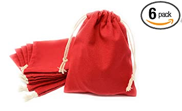 8624f449c9cb Amazon.com: Daisy Lane Drawstring Party Favor Bag for Kid Adult, Red ...