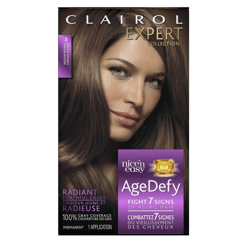 Amazon.com : Clairol Age Defy Expert Collection, 5 Medium Brown ...