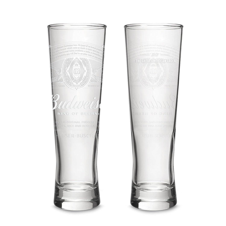 16oz Budweiser 2-Pack Dream Beer Glass