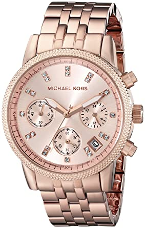 bd5a39e69 Image Unavailable. Image not available for. Color: Michael Kors Women's Ritz  ...