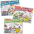 Melissa & Doug Activity Pad Bundle - Alphabet, Colors & Shapes & Numbers