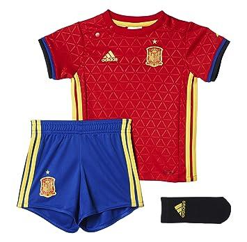 Adidas UEFA Euro 2016 Conjunto Camiseta y pantalón Corto Selección Española de Futbol 1ª equipación 2016-2017, Unisex niños, Rojo/Azul / Amarillo, ...