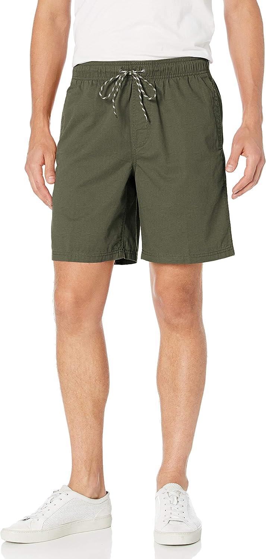 drawstring khaki shorts