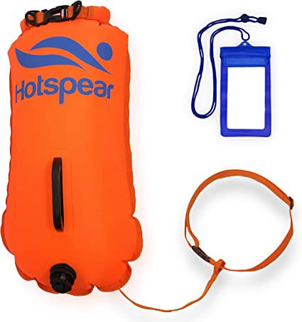 Safety Swim Tow Float Inflated Air Bag Swimming Flotation Aid for Open Water