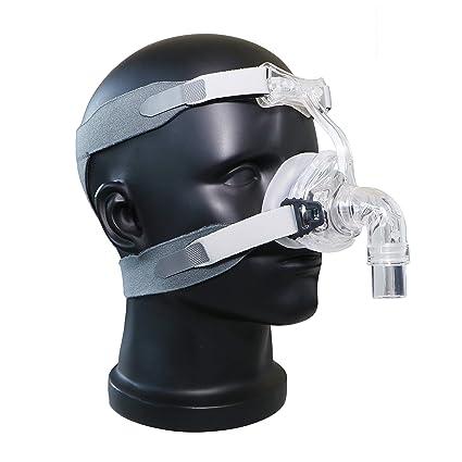 BMC NM2 - Máscara nasal con interfaz de ventilador de oxígeno con diadema para dormir y