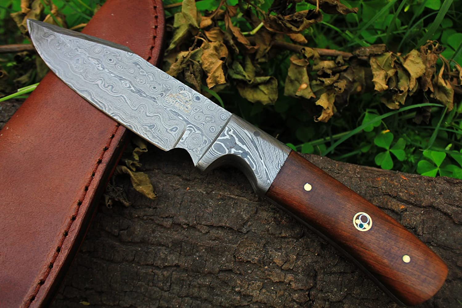 7 9 18 DKC-516 Hunter Damascus Bowie Hunting Handmade Knife Fixed Blade 7.9 oz 9
