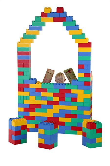 Amazon Com 192pc Jumbo Blocks Jumbo Set Made In The Usa Toys