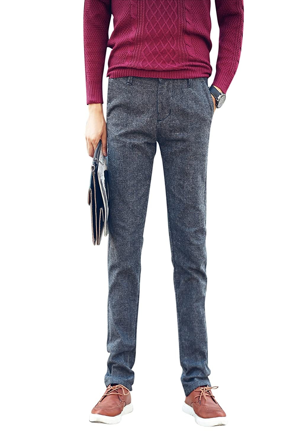 Menschwear Men's Stretch Casual Trousers Casual Straight Legs