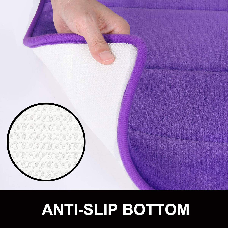 Lavabile Antiscivolo Morbido Tappetino da Bagno in Memory Foam a Forma di U 50 x 60 cm Assorbente con Retro in Gomma Beige