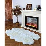 WaySoft Genuine New Zealand Sheepskin Rug, Luxuxry Fur Rug for Bedroom, Fluffy Rug for Living Room (4ft x 6ft, Natural)