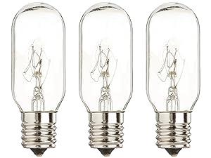 40 Watt Microwave Bulb GE - Microwave Light - Fits Most GE and Whirlpool Ovens - E17 Intermediate Base Bulb - 40 Watt 130 Volt Appliance Bulb - 3 pack - GoodBulb