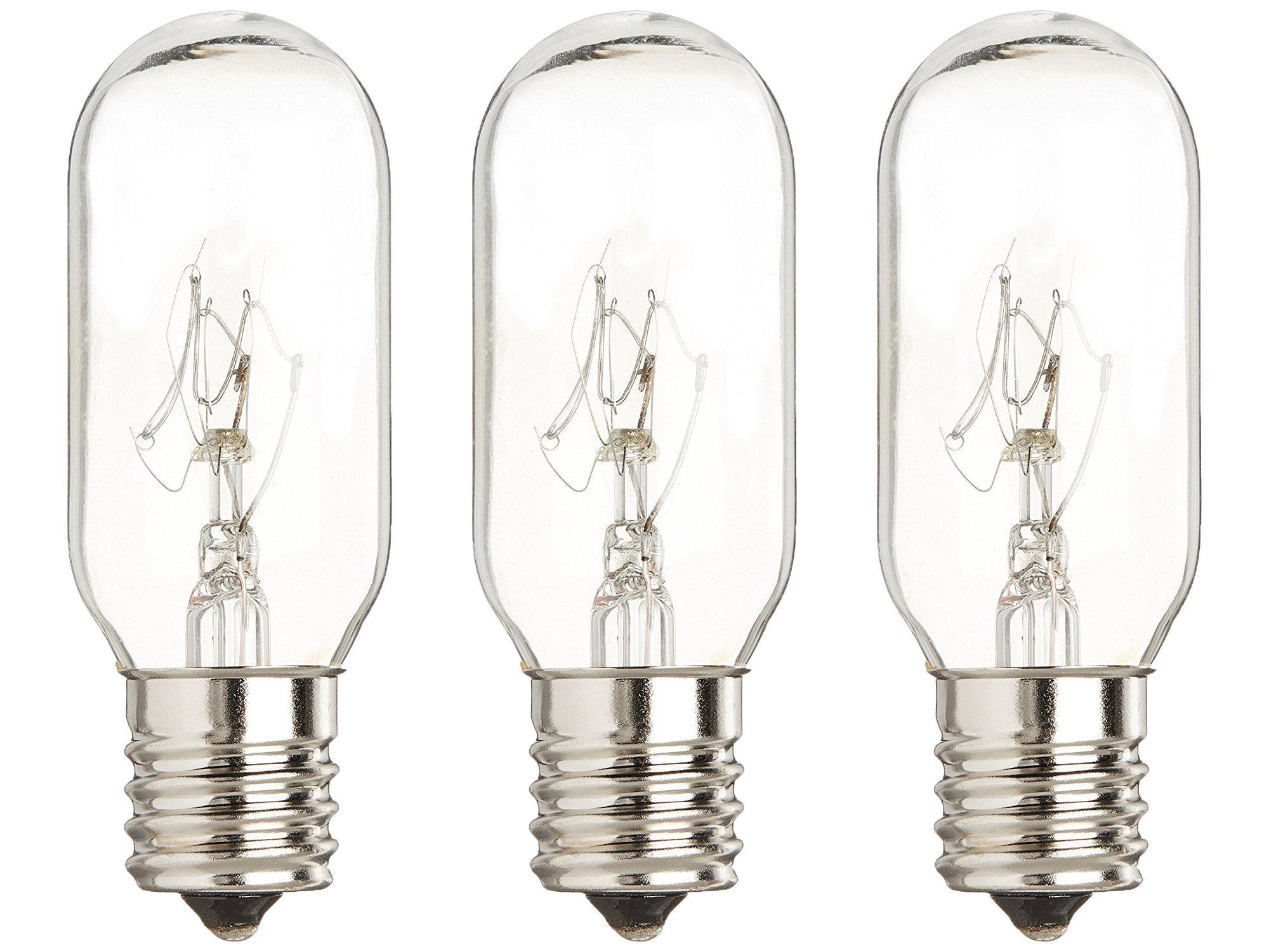 3 PACK of WB36X10003 General Electric Microwave Light Bulb Lamp 40 Watt 130 Volts