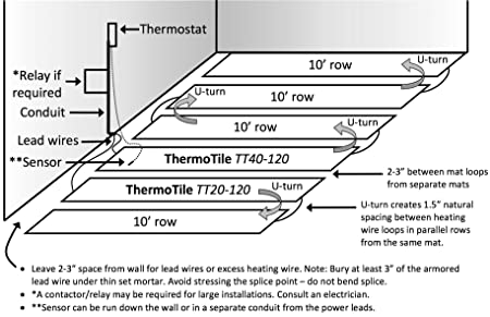 75 0 sq ft, 120v ceramic \u0026 stone tile electric in floor heating mat Single Phase Diagram 75 0 sq ft, 120v ceramic \u0026 stone tile electric in floor heating mat thermotile tt50 120 other sizes available amazon com
