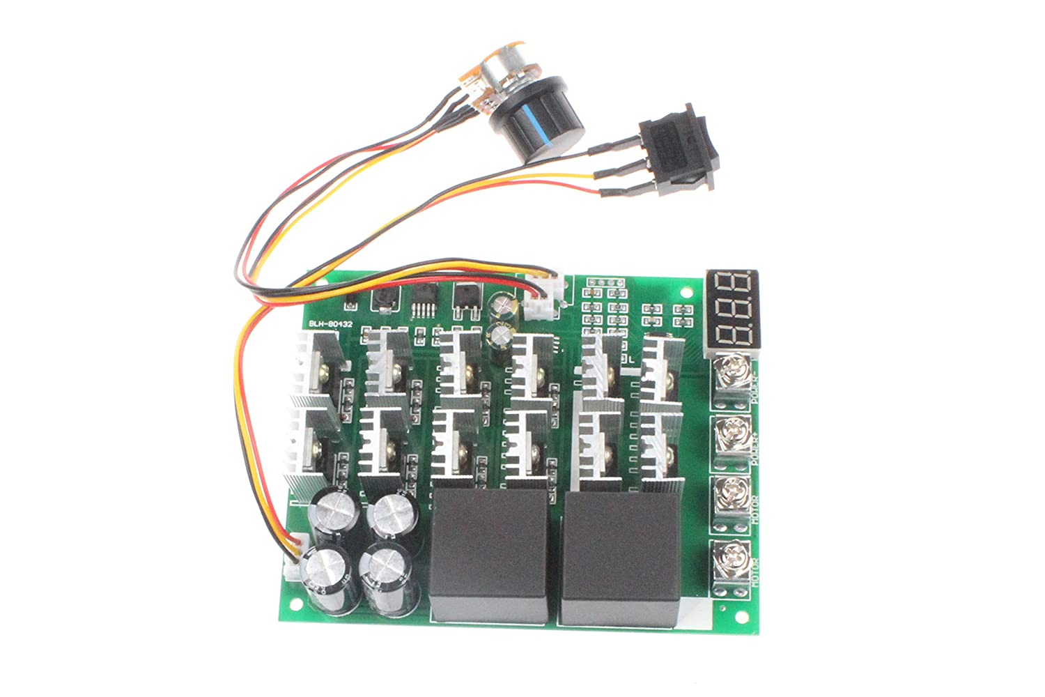 Noyito Pwm Motor Speed Controller 60a Dc 10v 55v 12v 24v Control Circuits Gt Separately Excited Reversing Circuit 36v 48v Digital Display 100a Max Brush Third Gear Forward Reverse