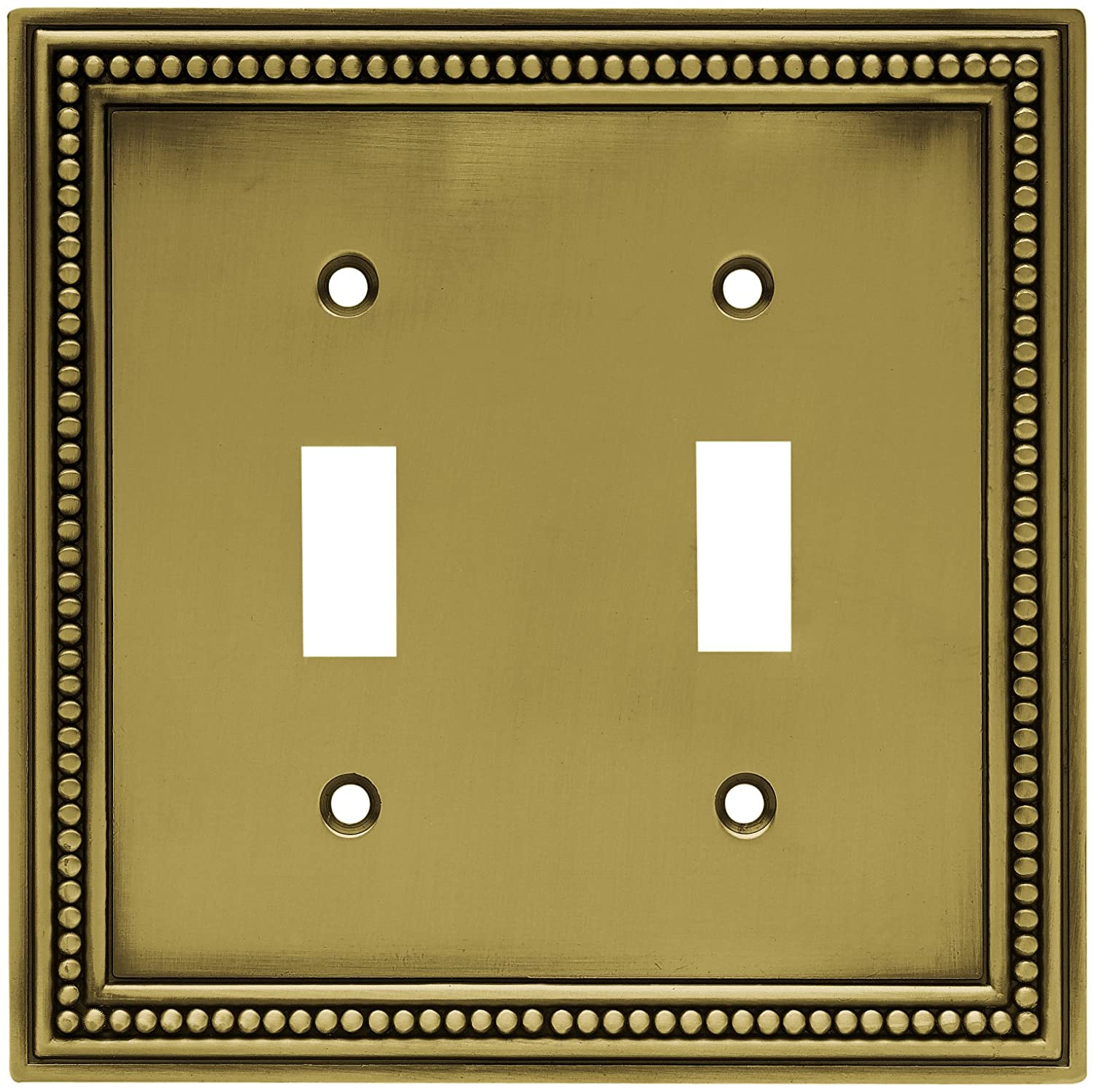 Brainerd 64772 Beaded Double Toggle Switch Wall Plate / Switch Plate ...