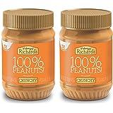 Crazy Richard's All Natural Crunchy Peanut Butter 16 oz Jar 100% Peanuts No added Sugar, Salt, or Palm Oil (Crunchy…