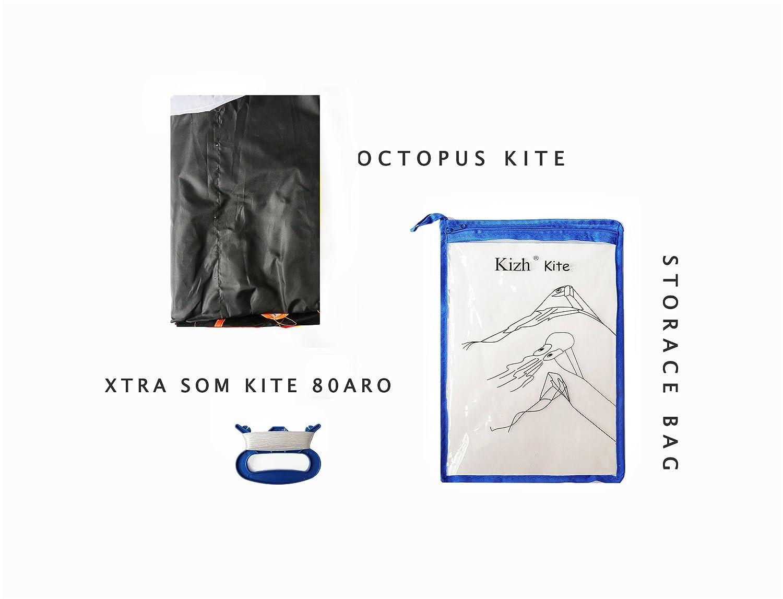 kizh Kite Huge 3D Dolphin Frameless Soft Parafoil Kites for Kids and Adults Easy Flyer Giant Kite for Beach Park Garden Playground Black