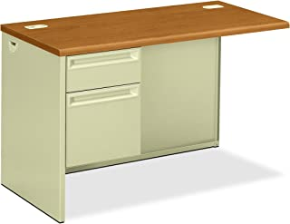 product image for HON Left Pedestal Return Desk with Lock, 48 by 24 by 29-1/2-Inch, Harvest/Putty