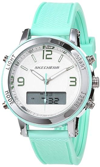Skechers Reloj Analógico-Digital para Mujer de Cuarzo con ...