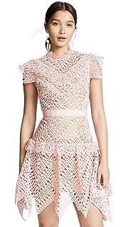 cfbb7cf41 Amazon.com: Self Portrait Women's Spiral Lace Maxi Dress, Grey Blue ...