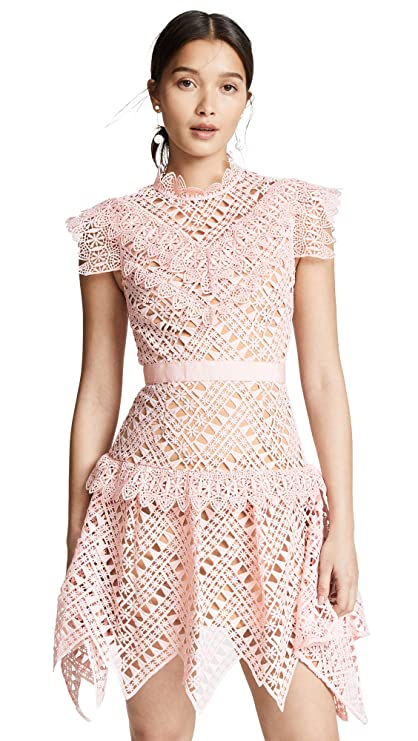 Self Portrait Women's Abstract Triangle Lace Dress by Self Portrait
