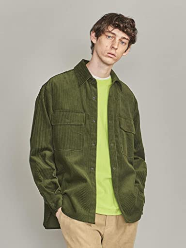 8-wale Corduroy CPO Shirt 1226-163-0042: Dark Green