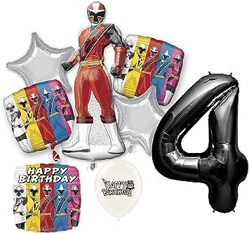 Amazon.com: Black Number 4th Birthday Power Rangers Ninja ...