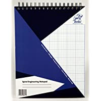 Engineering Paper 100 Sheet - Spiral Notepad (Blue Cover)