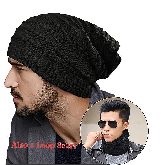 b84b58839592bf ELLEWIN Unisex Sports Fan Skullies and Beanies Magic Slouch Knit Beanie  Loop Scarf Neckerchief Headband