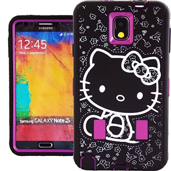 448e8f23a Image Unavailable. Image not available for. Color: Cute Hello Kitty Hybrid  Case for Samsung Galaxy Note ...