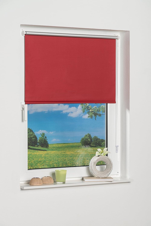 K-home 238154–3Klemmfix Mini tenda avvolgibile oscurante, plastica, Tessuto, rosso, 40 x 150 cm China 238154-1