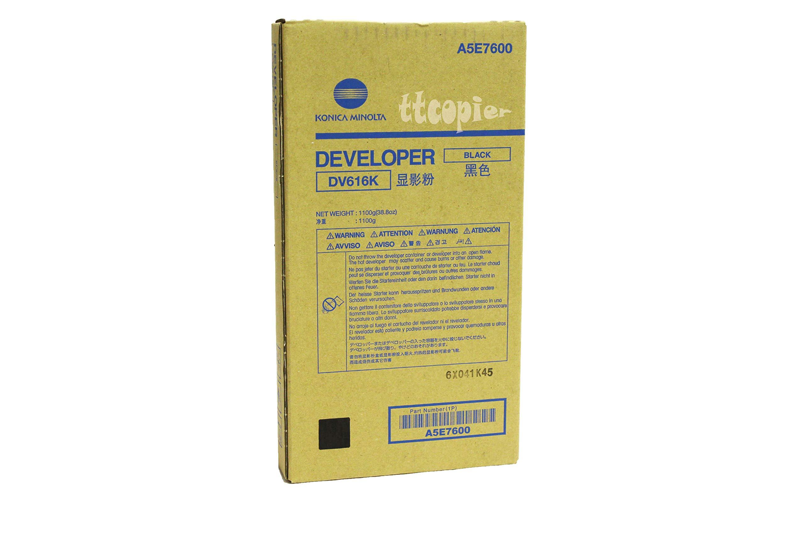 Genuine Konica Minolta A5E7600 DV616K Black Developer for C1100 C1085