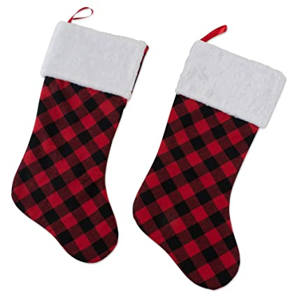 dii camz10925 stockings fireplace ornament holiday dcor or christmas party red and