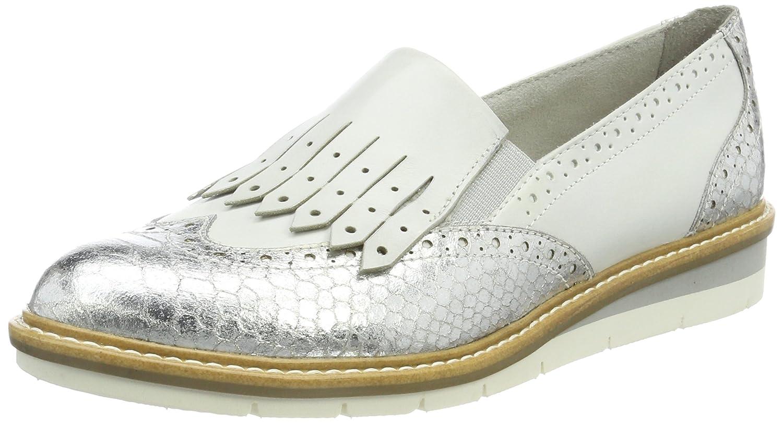 Tamaris 24305, Mocasines para Mujer 38 EU|Blanco (White Comb)