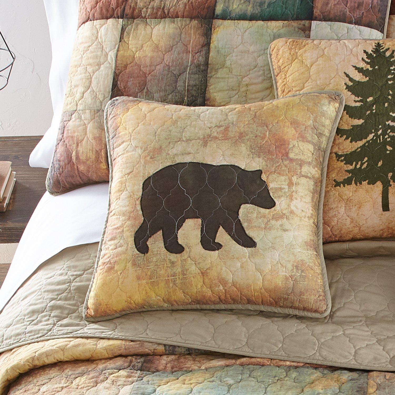 Donna Sharp Dec Pillow, Wood Patch (bear)