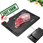 GEMITTO Defrosting Tray for Frozen Meat, Rapid Thawing Plate for Fast