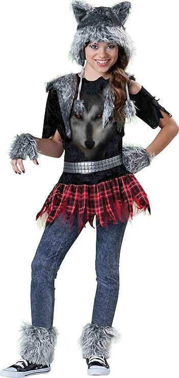 Disfraz lobo para niña - Premium 10-12 años (140/152): Amazon.es ...