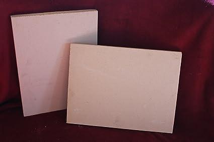 2 x arcilla refractaria Ladrillos refractarios Chamota Horno piedra 400 x 300 x 30 mm