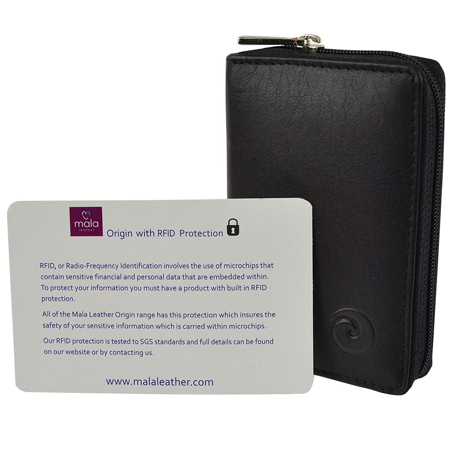 cfdb9601871 Mala Leather ORIGIN Collection Leather Concertina Credit Card Holder With  RFID Protection 552_5 Black: Amazon.co.uk: Luggage