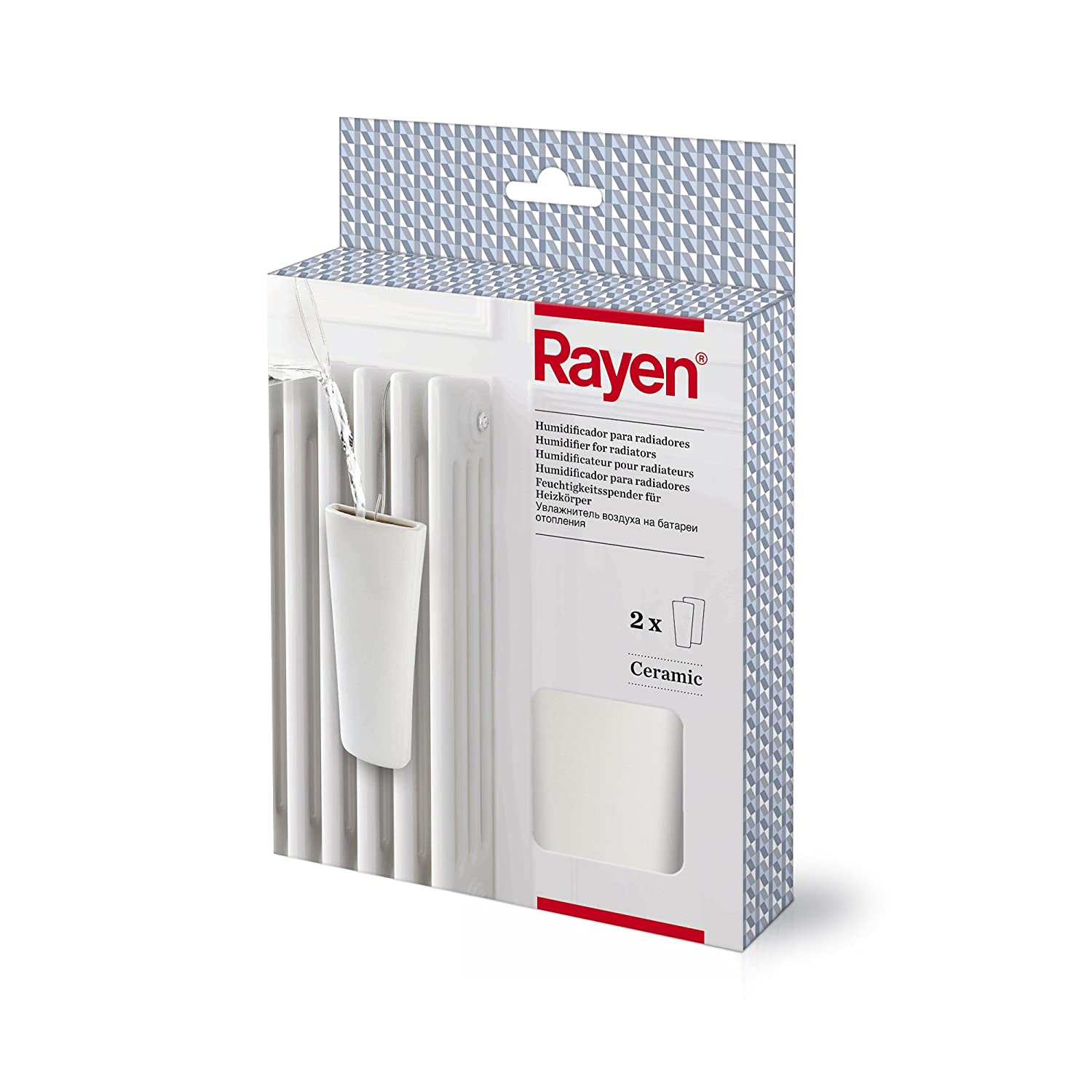 Rayen 0042.01 - Pack de dos humidificadores para radiadores, color blanco: Amazon.es: Hogar