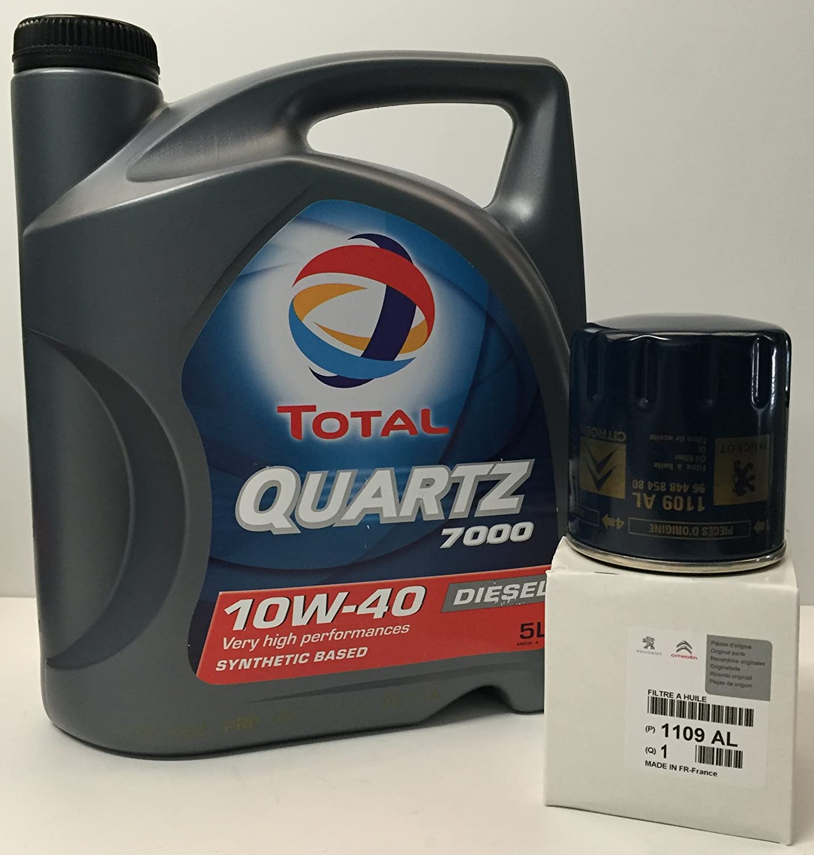Total Pack Quartz 7000 Diesel 10W40 5 litros + Filtro Original ...