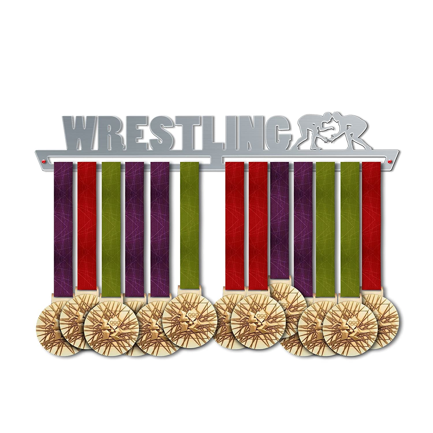 Wrestling Medal Hanger Display V2 | Sports Medal Hangers | Stainless Steel Medal Display | by VictoryHangers - The Best Gift for Champions !