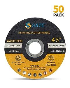 "Cutting Wheel 50 PCS Cut Off Wheel 4.5""x.040""x7/8"" Cutting Disc Ultra Thin Metal & Stainless Steel SATC"