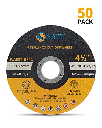 "30 pcs Cut Off Wheel Stainless Steel 7/"" X 3//64/"" X 7//8/"" Metal Disc Saw Blade"