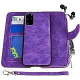 Samsung Galaxy S20 Plus Case, Modos Logicos [Detachable Wallet Folio][2 in 1][Zipper Cash Storage][Up to 14 Card Slots 1 Phot