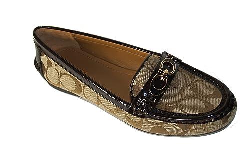88e0bf2e09d Image Unavailable. Image not available for. Color  Coach Fortunata 12CM  Signature Loafer Shoes Khaki Chestnut 7.5 M