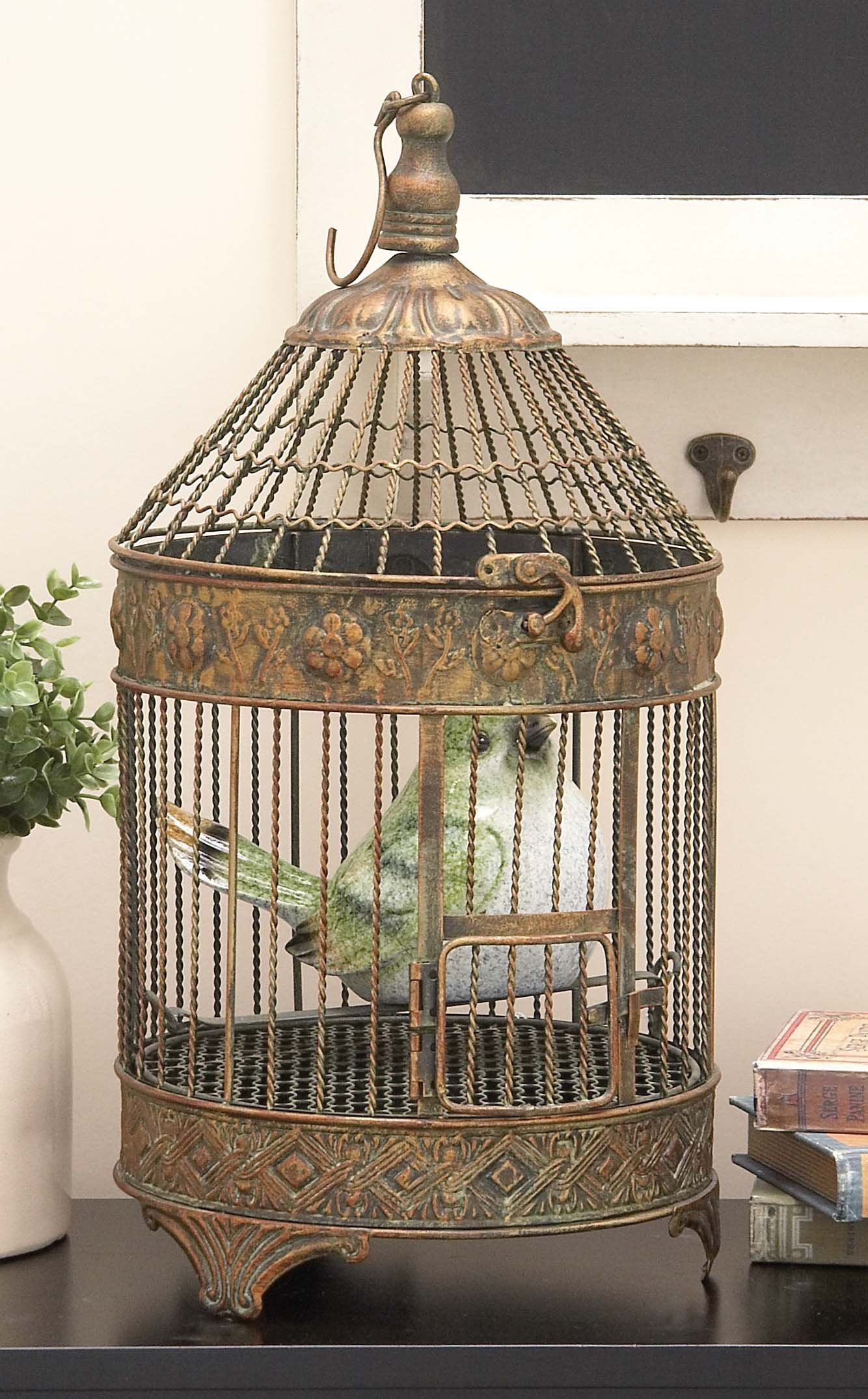 Deco 79 Metal Bird Cage, 24-Inch and 16-Inch, Set of 2 by Deco 79