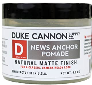 product image for Duke Cannon Supply Co. - News Anchor Pomade, Sandalwood and Hint of Citrus (4.6 oz) Medium-to-Strong Hold Pomade with Natural Matte for All Types of Hair - Sandalwood and Hint of Citrus